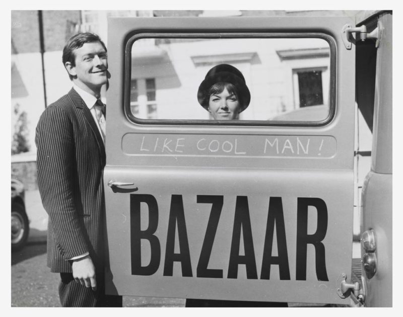 Mary Quant and Alexander Plunket Greene photograph by John Cowan, 1960, Courtesy of Terence Pepper Collection/Image © John Cowan Archive