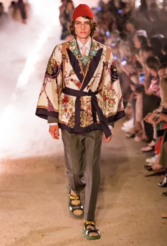 Pyjamas Chic_House Party_quarantine look_safe pretty and natural_Gucci Resort 2019