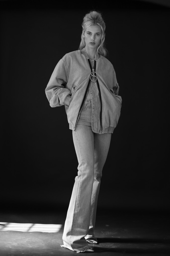 Moa in Levi's Made & Crafted x Off White, photographed by Omar Macchiavelli