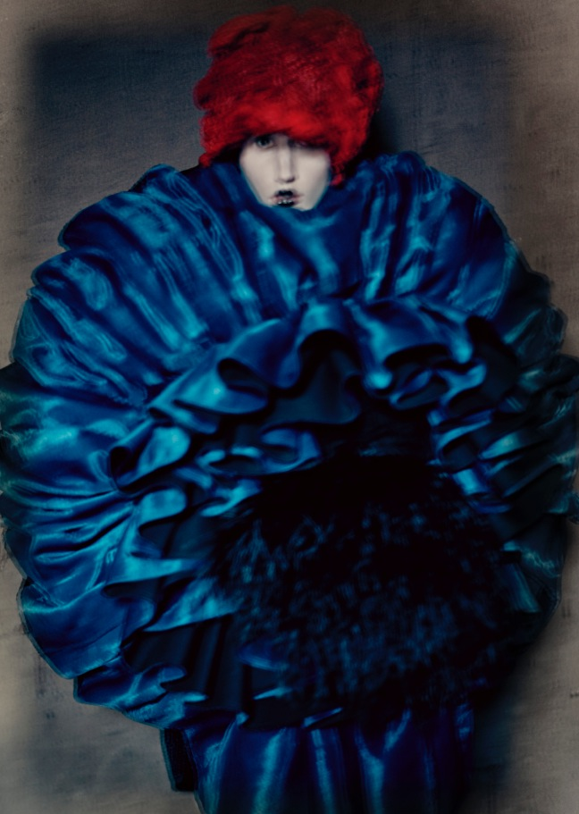 """Rei Kawakubo for Comme des Garçons , """"Blue Witch,"""" spring/summer 2016 Courtesy of The Metropolitan Museum of Art, © Paolo Roversi"""