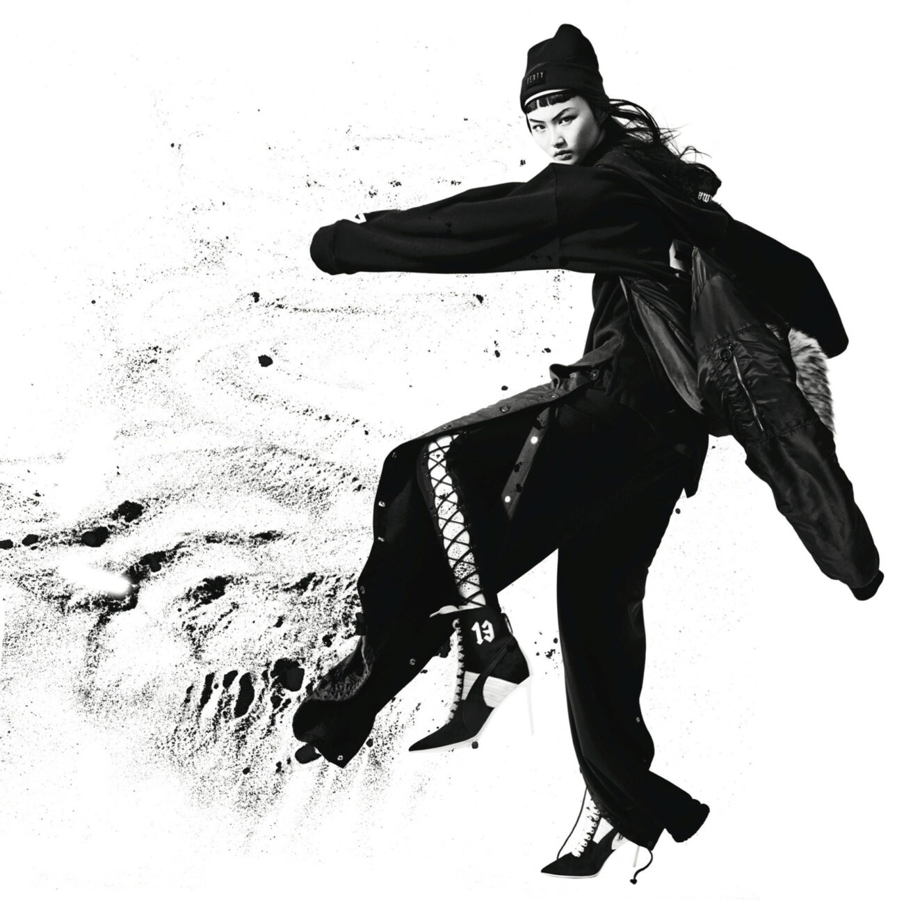 Fei Fei Sun wearing Fenty Puma by Rihanna