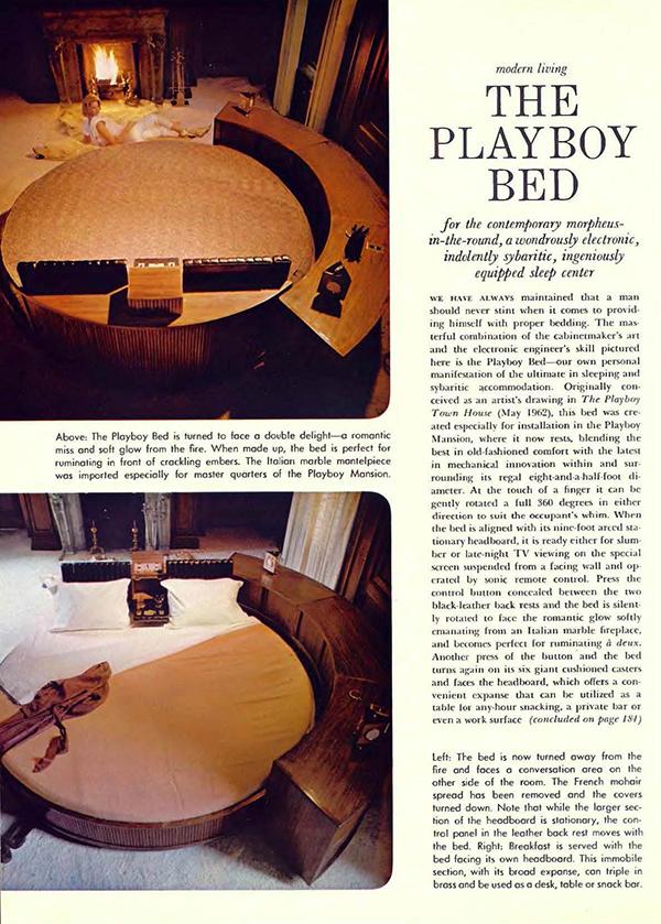 Playboy Bed, Playboy Magazine, April 1965.