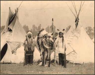 Black Foot, Stanging Bear, Big Eagle 1898 ©Rinhart