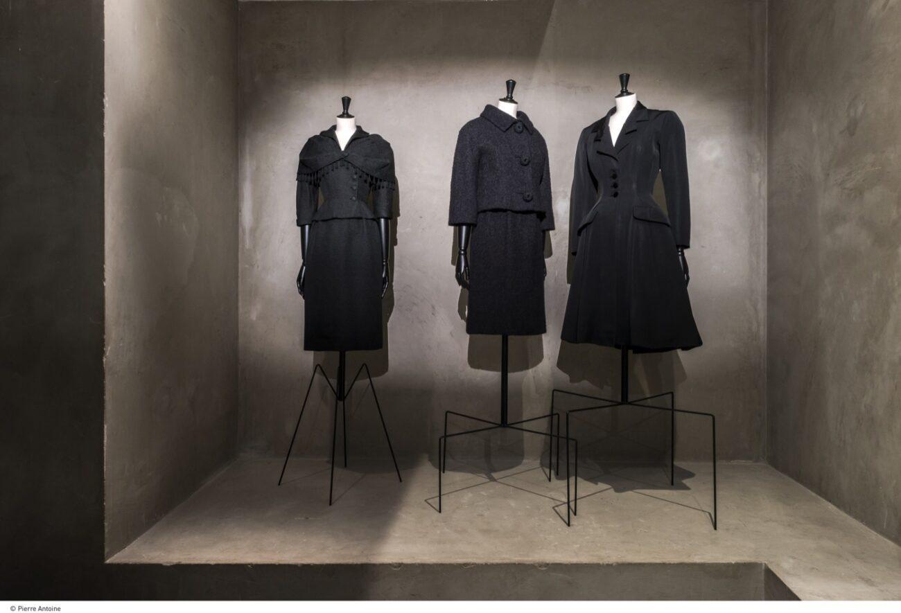 Balenciaga at Musée Bourdelle- Redingote, Hiver 1949 Tailleur, Hiver 1960 - Jacket and dress, Hiver 1950