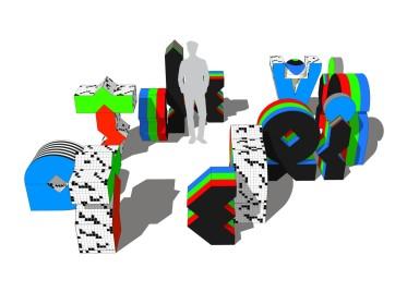 "Graphic and exhibition concept of ""TV 70"" by M\M (Paris) Courtesy M\M (Paris) Fondazione Prad"