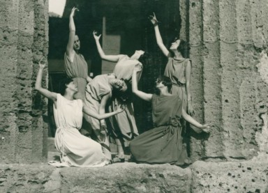 Persefone's party in Agrigento 1928