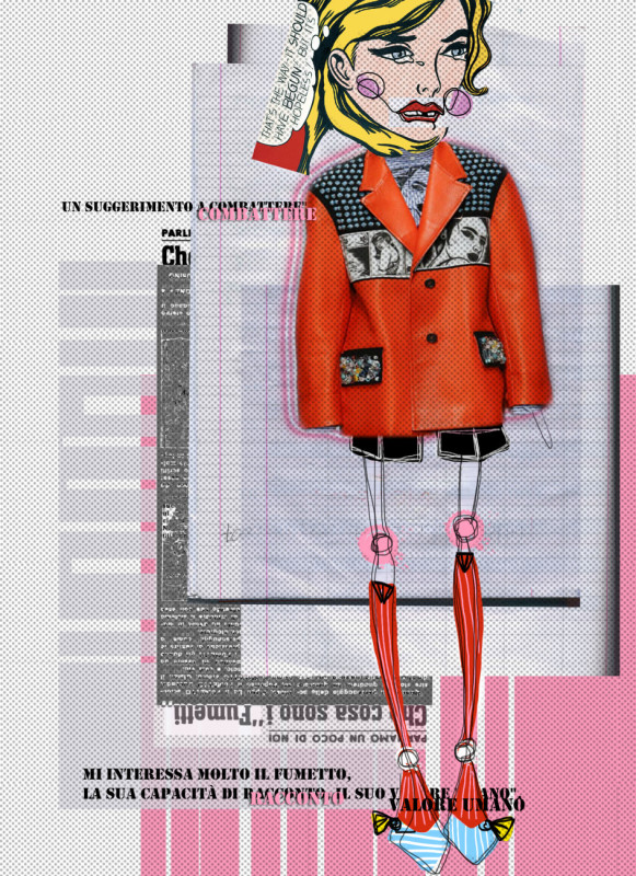 Prada collage ss2018
