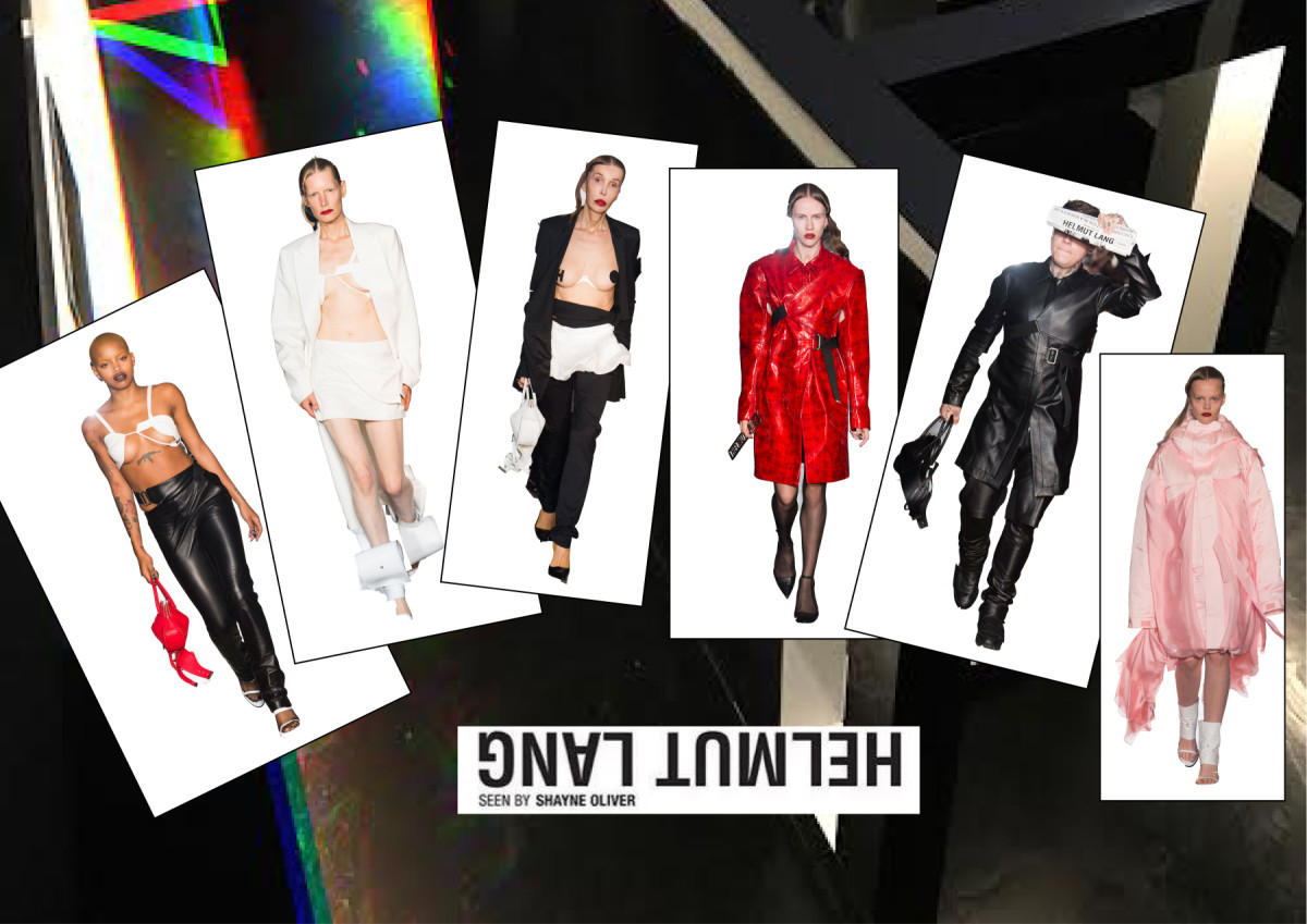 Helmut Lang ss18 NYC Collage