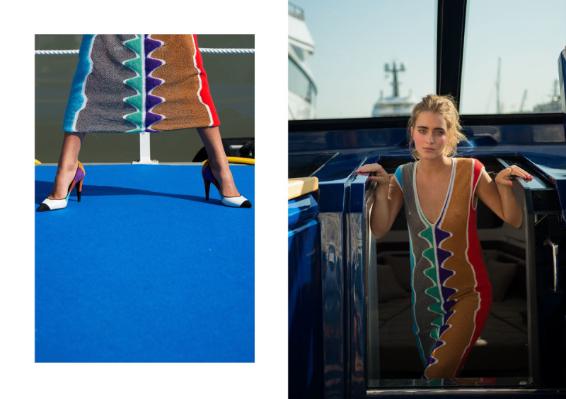 In Missoni dress on Evo Yachts, MYS '17. collectible DRY. ph. Ann Casarin