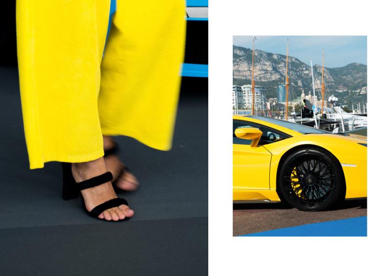Monaco Yacht Show 17. Jimmy Choo. With Lamborghini HURACÁN collectible DRY. ph. Ann Casarin
