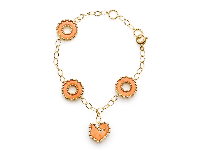 capri, chantecler, coral, jewelry, hand made, made in Italy, heritage, gold, charm, pendant, sapphires, coral, diamonds, turquoise, precious, gems