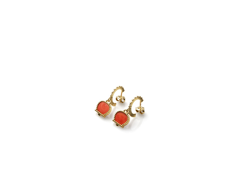 capri, chantecler, coral, jewelry, hand made, made in Italy, heritage, gold, charm, pendant, sapphires, coral, diamonds, turquoise, precious, gems, earrings
