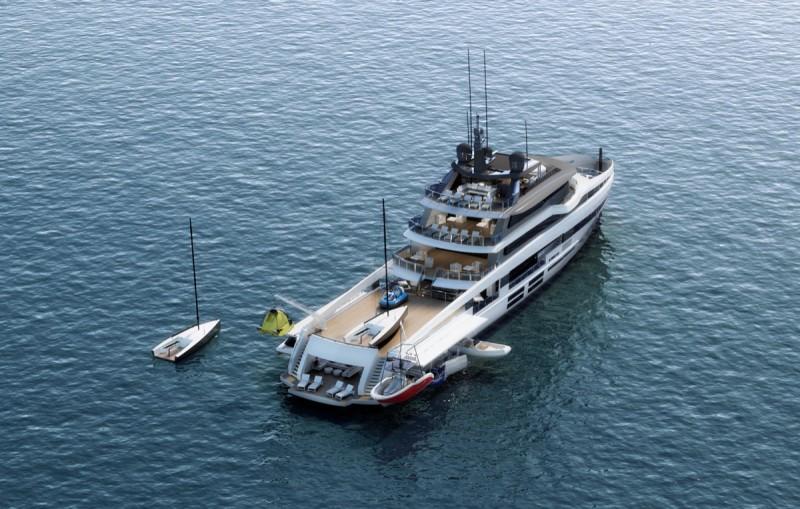 HD ocea 55 stern view beaching monaco yacht show