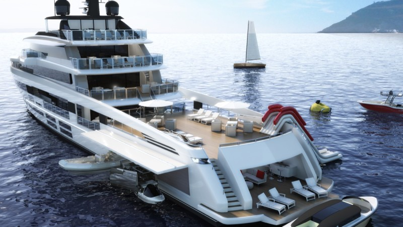 HD ocea 55 stern view all open beaching monaco yacht show