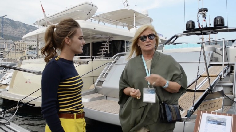 Lia Riva interview with collectible DRY at Monaco Yacht Show