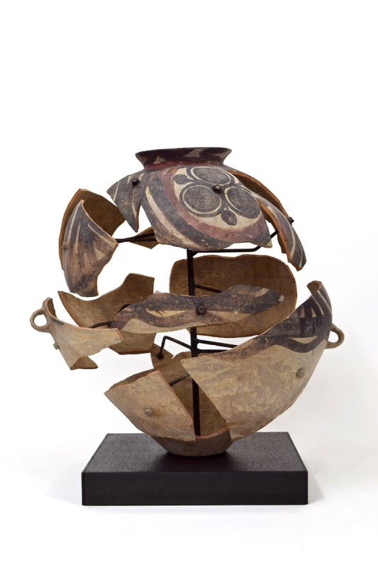 Bouke de Vries, Deconstructed neolithic jar, Neolithic Chinese earthenware and mixed media