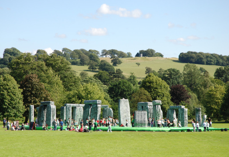 Jeremy Deller Sacrilege, 2012 Installation view, Yorkshire Sculpture Park, 2012 Commissioned by the Glasgow International Festival and the Mayor of London Courtesy of The Artist and The Modern Institute/Toby Webster Ltd, Glasgow Photo: James Hutchinson