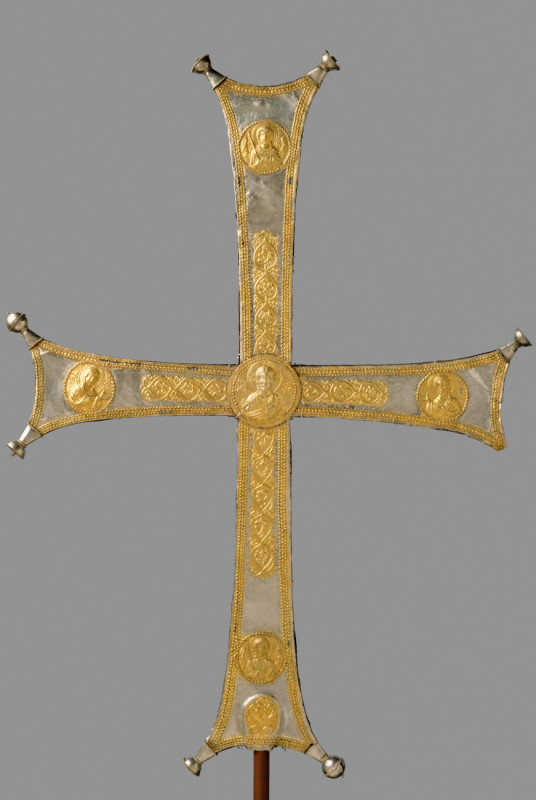 Processional Cross, Byzantine, ca. 1000- 1050, silver, silver-gilt