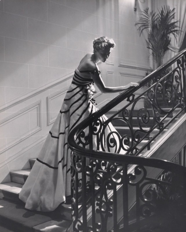 Willy Maywald_1948_Liszt Gown by Dior_Paris_copyright Association Willy Maywald:Artists Rights Society ARS_The J. Paul Getty Museum_Los Angeles_Icons of Style
