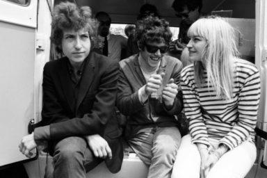 Bob Dylan, Donovan, and Mary Travers by Gahar David, Newport, 1965