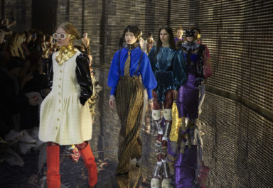 Gucci, Fall Winter 19-20 show, Milan Fashion Week, Alessandro Michele, mask, visible and invisible
