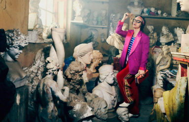 Gucci Men's Tailoring 2019 Campaign starring by Harry Styles, Photo by Harmony Korine, Creative Director Alessandro Michele, Courtesy of Gucci