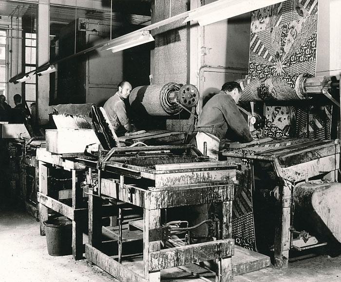 Wax-fabric's machine production,-Vlisco-Archive
