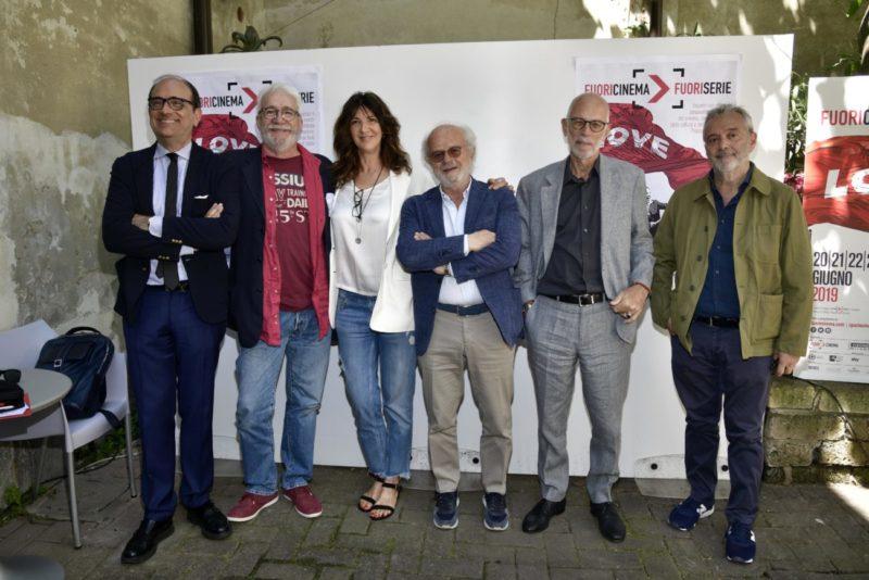 Press Conference Fuoricinema Fuoriserie 2019, Artistic directors Paolo Baldini, Michele Mozzati, Cristiana Mainardi, Gino Vignali, Gabriele Slavatores, Lionello Cerri
