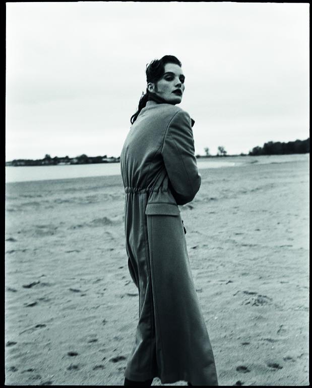 Alexina wears coat Salvatore Ferragamo