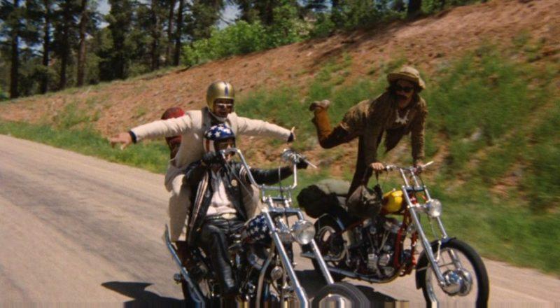 "Dennis Hopper, Peter Fonda and Jack Nicholson in ""Easy Rider"", 1969, directed by Dennis Hopper"