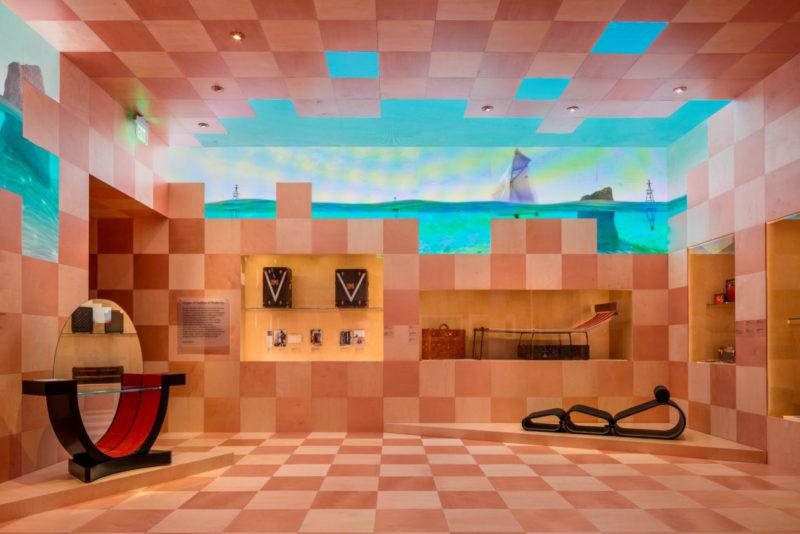 """Origins: A Tradition of Modernity"" room, Louis Vuitton X exhibition, Courtesy of Louis Vuitton"