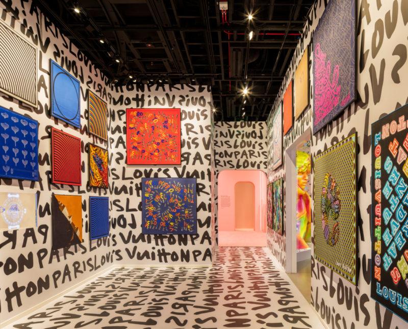 """Art on Silk"" room, Louis Vuitton X exhibition, Courtesy of Louis Vuitton"