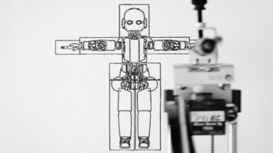 Scheme of a robot_Ecce Robot by Gabriele Gianni_Fondazione Carla Fendi in Spoleto