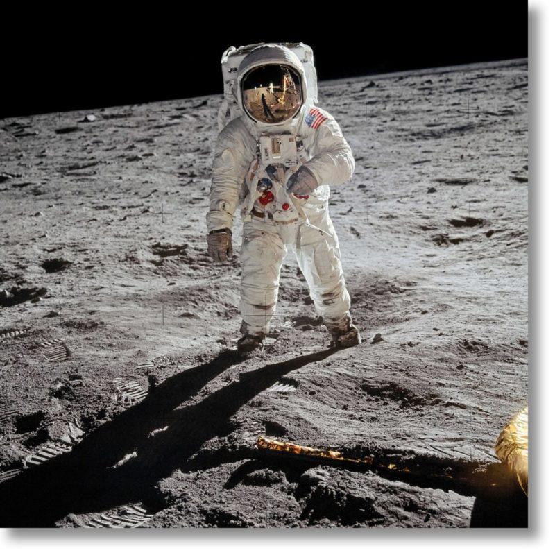 """""""A man on the moon"""", Shoot by Buzz Aldrin, Courtesy of Taschen"""