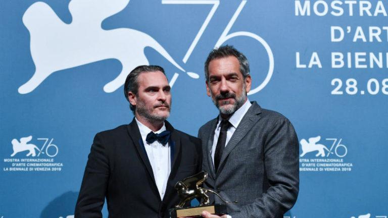 Joaquin Phoenix and Todd Phillips at 76th Venice Film festival