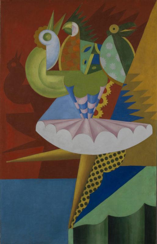 Depero_Rotazione di ballerina e pappagalli_1917_Mart_Isadora Duncan