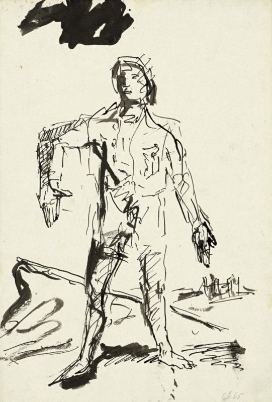 Ein neuer Typ (A New Type), 1965_Baselitz_Gallerie dell'Accademia_Venice
