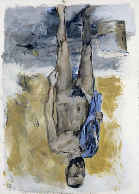 Fingermalerei - Akt (Finger Painting - Nude), 1973_Baselitz_Gallerie dell'Accademia_Venice