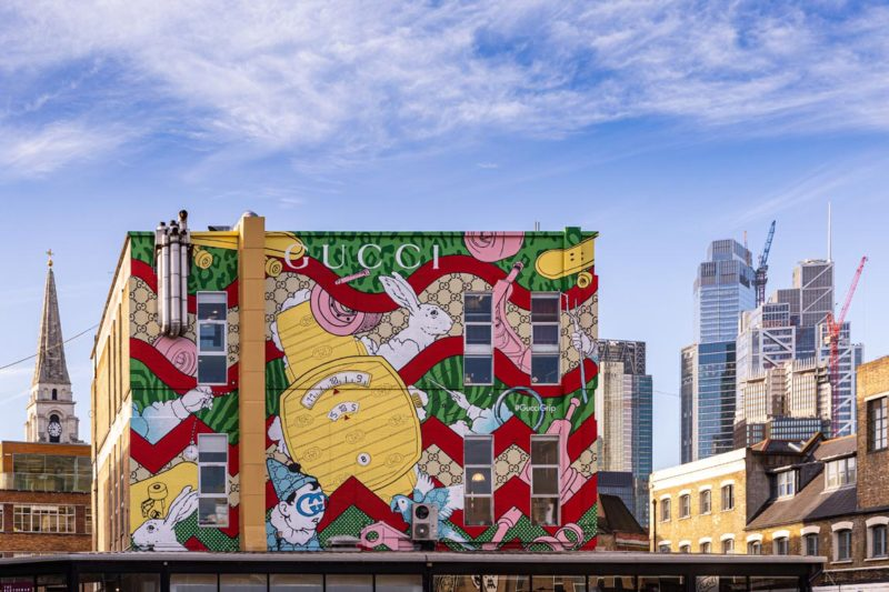 Gucci ArtWall by Kieron Livingstone, Photo by Dave Benett/Getty Images, Courtesy of Gucci