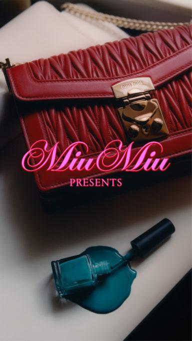 """#MiuConfidential """"Bags Don't Lie"""" by Simon Cahn, Courtesy of Miu Miu"""
