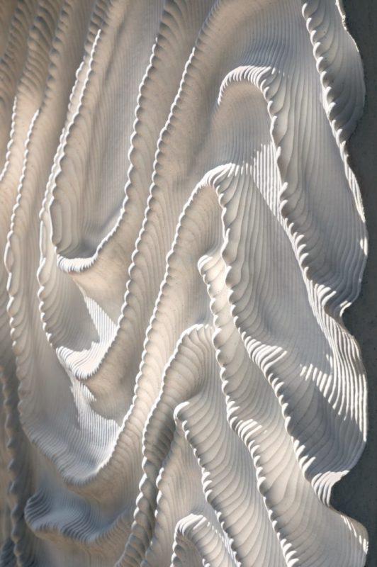 Naturalis Biodiversity Center_Netherland_Iris van Herpen_3D white concrete structure