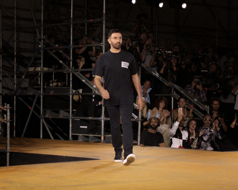 The creative director Riccardo Tisci at Burberry Spring Summer 2020 Collection, Courtesy of Burberry