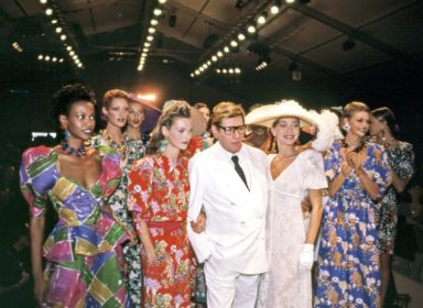 Yves St. Laurent and Models, Paris, 1993 ©Harry Benson : Courtesy Staley-Wise Gallery, New York