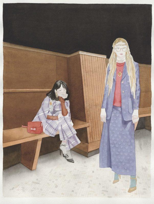 Collectible DRY Issue 14, Planetaria, Gucci, fashion editorial, watercolor, Sara Salvemini