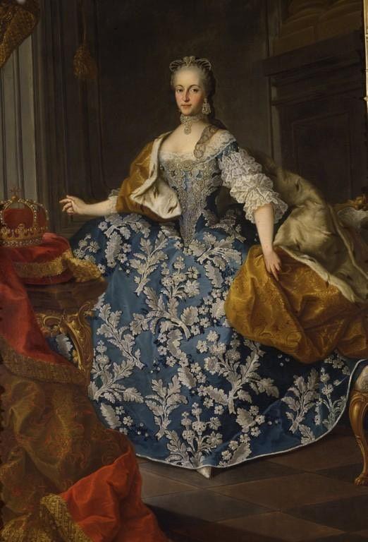 Decades of Iconic Fashion_1760s fashion_1765 Maria Josepha of Bavaria, Holy Roman Empress by Martin van Meytens
