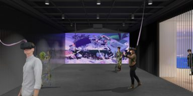 ONXStudio_Rendering_Image by Leong Leong. Simulation of art inspired by Rachel Rossin