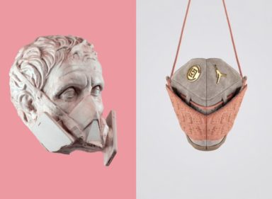 New History Mask_Micha Cattaui_Zhijun Wang_face mask_art_ancient Greek_sneakers