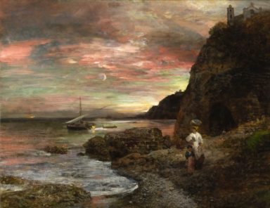 Happiness Index_DRY Issue 1_Posillipo_Art by Oswald Achenbach_ Abendsonne am Posillipo