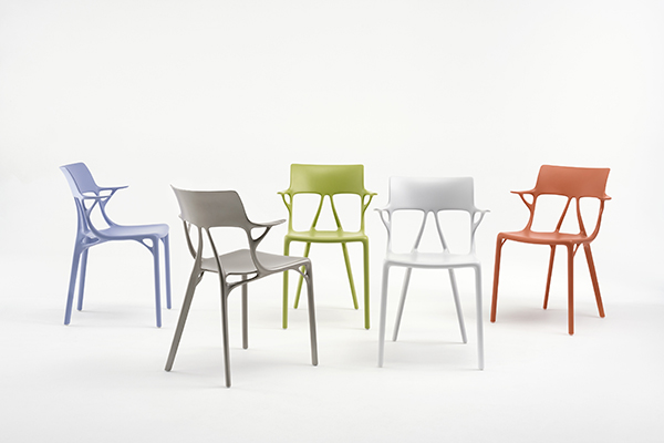 A.I. Impetus_Kartell A.I. chair_Philippe Starck_Autodesk_artificial intelligence_Salone del Mobile 2019_what's next