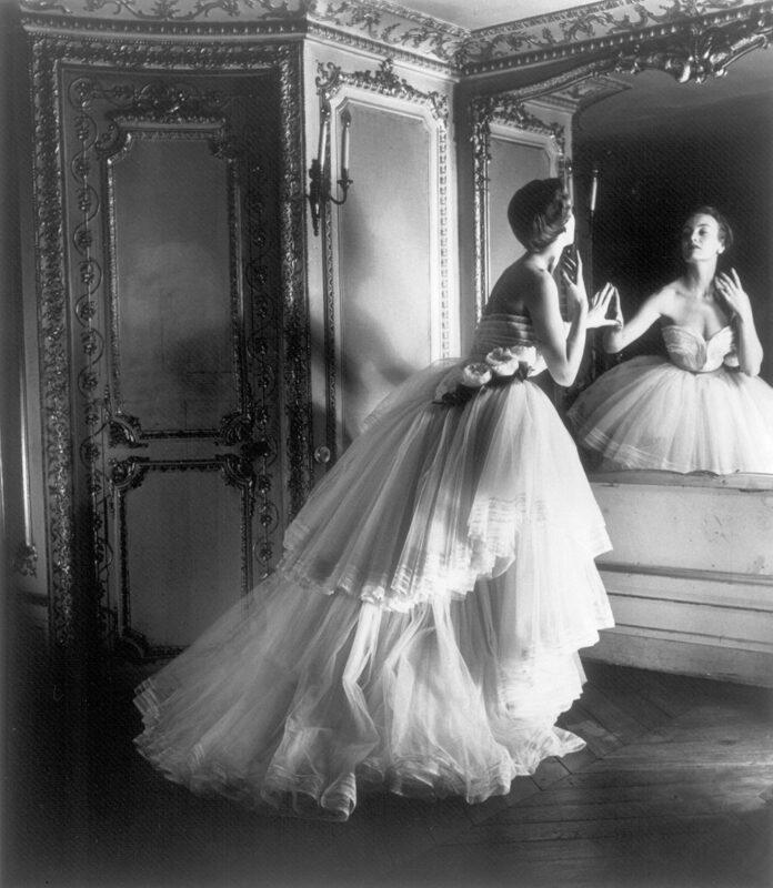 Opposites to Zero_Louise Dahl-Wolfe_Dior Ballgown, Paris, 1950